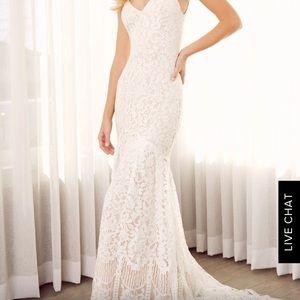 Lulu's White lace maxi dress
